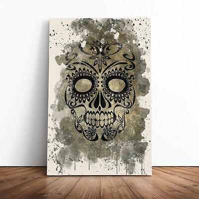 £19.95 • Buy Sugar Skull Tattoo (1) Framed Canvas Print Wall Art Picture Large Home Decor