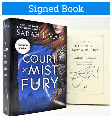 $125 • Buy  ✎SIGNED 1/1✎ Sarah J. Maas AUTOGRAPHED Court Of Mist And Fury (Throne Of Glass)