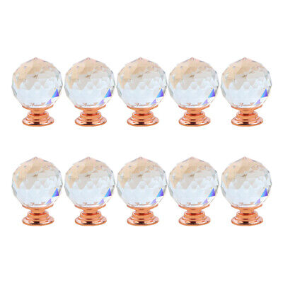 Drawer Door Knobs Diamond Crystal Cupboard Wardrobe Furniture Handle+Screws UK • 7.99£