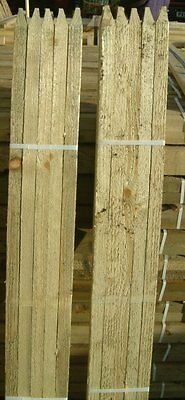 10 X 1.8m (6ft) X 32mm SQUARE & POINTED PRESSURE TREATED TREE STAKES / POSTS • 25.99£