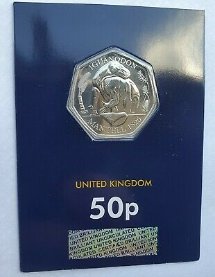50 P Dinosaur -  Iguanodon 50 Pence 2020 UK  CERTIFIED BU 50p Change Checker • 7.48£