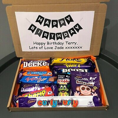 Personalised CADBURY Chocolate Sweet Box Hamper Selection Birthday Gift Present • 6.49£