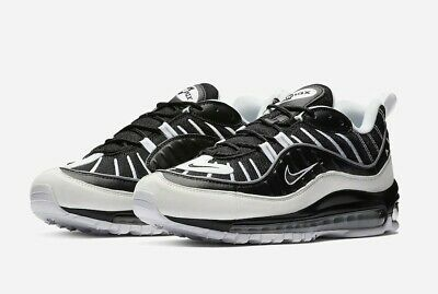 $139.99 • Buy Nike Air Max 98, Black And White, Size 9, 640744-010