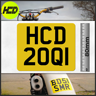Trials Enduro SMALL Decal Classic License Rear Mudguard Stickon Number Plate • 7.19£