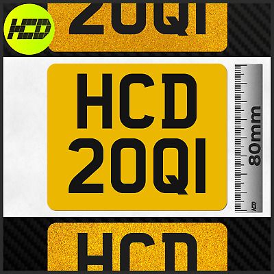Reflective Trials Enduro Premium Decal Small Number Plate License Stick On Tlr • 8.39£