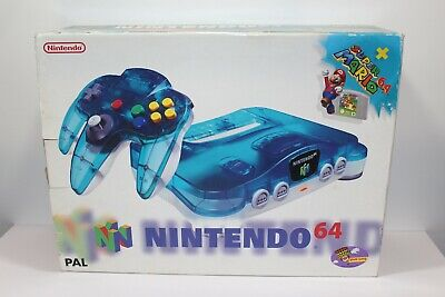 AU499.99 • Buy Nintendo 64 Console Two Tone Ice Blue Boxed N64