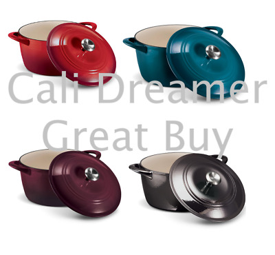 $ CDN73.81 • Buy Tramontina Enameled Cast Iron 7-Qt. Covered Round Dutch Oven (Assorted Colors)