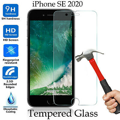 AU5.99 • Buy Tempered Glass 9H Guard Screen Protector Apple IPhone SE 2020 2nd Generation