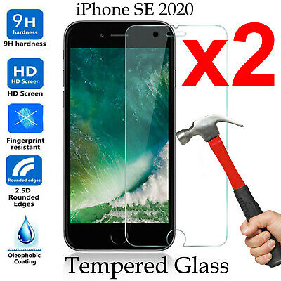 AU7.99 • Buy 2pcs Tempered Glass 9H Guard Screen Protector Apple IPhone SE 2020 2nd Gen
