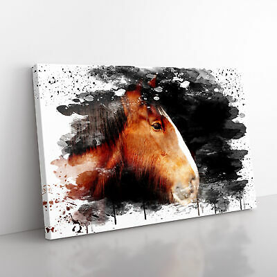 Shire Horse V3 Framed Canvas Print Wall Art Picture Large Home Decor • 24.95£