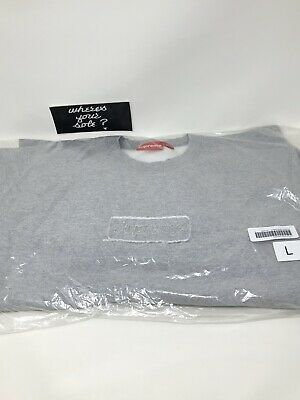 $ CDN346.67 • Buy Supreme Cutout Box Logo Sweatshirt Crewneck Heather Grey Large L New Bogo SS20