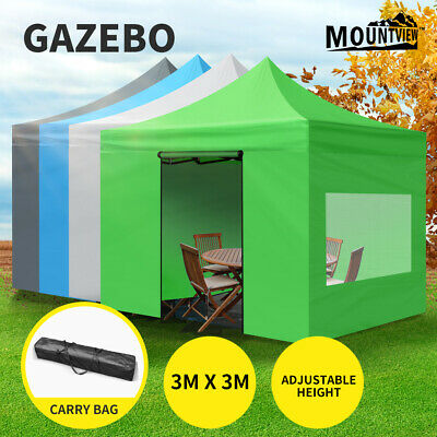 AU145.99 • Buy Mountview Gazebo Marquee Gazebos Tent 3x3 Camping Outdoor Canopy Mesh Side Wall