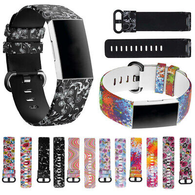 AU6.08 • Buy For Fitbit Charge 3 4 Replacement Smart Watch Strap Bracelet Wrist Band Fashion