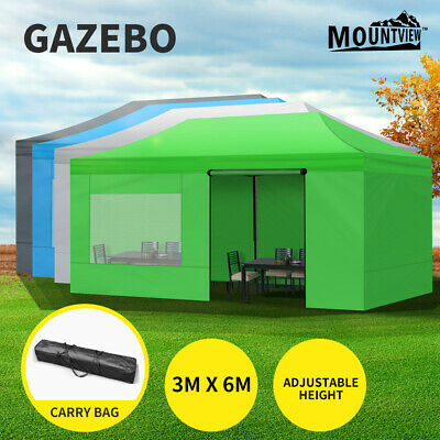 AU235.99 • Buy Mountview Gazebo Marquee 3x6 Outdoor Tent Gazebos Camping Canopy Mesh Side Wall