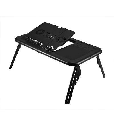 Laptop Lap Desk Foldable Table E-Table Bed With USB Cooling Fans Stand Tray • 22.37£