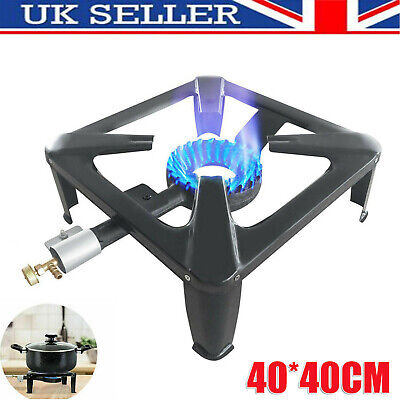 £20.99 • Buy Large Lpg Gas Burner Cooker Cast Iron Boiling Ring Camping Catering Restaurant