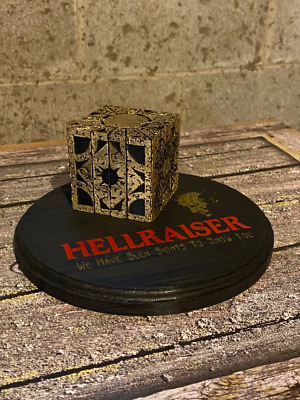 Hellraiser Lament Configuration Puzzle Box W Custom Pinhead Display Stand  • 91.57£