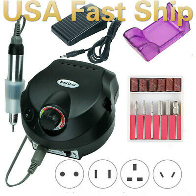 View Details Pro 35000RPM Electric Nail Drill Machine Manicure Set Pedicure File US Fast Ship • 39.99$