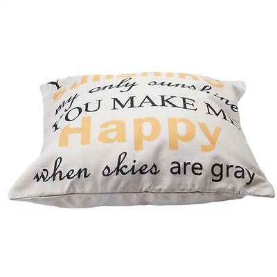 You Are My Sunshine Letters Linen Pillow Case Chic Cushion Cover Decor GS1 • 3.48£