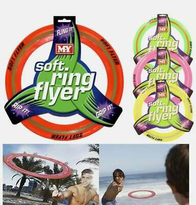 £6.95 • Buy 29cm Soft Flying Ring Disc Frisbee Flyer Adult Kids Pet Family Outdoor Fun Game