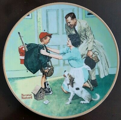 $ CDN16.37 • Buy Norman Rockwell  Home From Camp  Edwin M. Knowles Collectors China Plate
