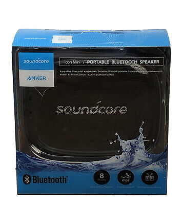 AU36.56 • Buy Anker Soundcore Icon Mini Portable Waterproof Bluetooth Speaker Black