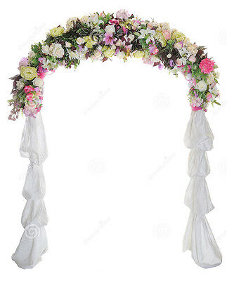 $29.99 • Buy Wedding Arch Way Garden Quinceanera Party Flowers Balloon Decoration White Metal