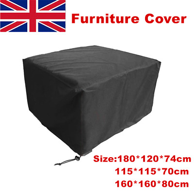 Heavy Duty Garden Patio Furniture Table Cover Rattan Table Cube Set Waterproof • 9.99£