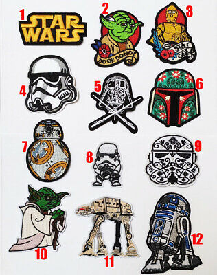 Star Wars Patches Movie Logo Transfer Iron On Sew On Patch Badge • 2.45£