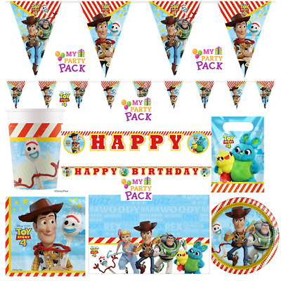 Disney Toy Story 4 Party! Plates,Cups,Napkins,Banners! Birthday Party! • 1.05£