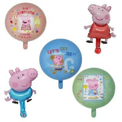 Peppa Pig Balloons 18 Inch And Handheld - Great For Parties! • 4.99£