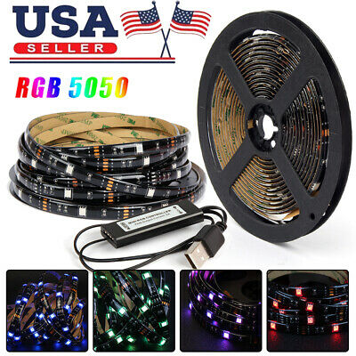 $11.95 • Buy 10FT USB LED Strip Lights 5050 RGB TV Backlight Bluetooth APP Remote Waterproof