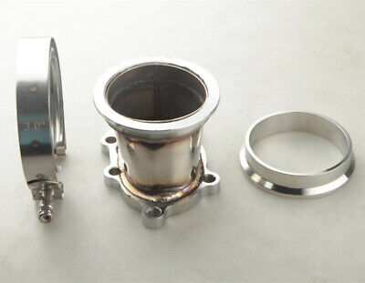 $ CDN65.62 • Buy GT25R GT28R 5 Bolt Turbo Downpipe Flange Clamp To 3  76mm V-Band Adapter Kit