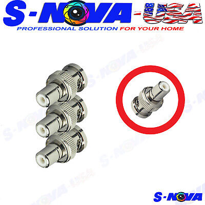 $ CDN4.24 • Buy 3 Pcs BNC Male To RCA Female Coax Coaxial Connector Adapter For CCTV Camera