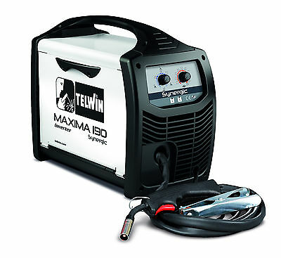 Telwin MAXIMA 190 DISPOSABLE REG KIT 170amp Gas/gasless Synergic MIG/MAG Welding • 460£