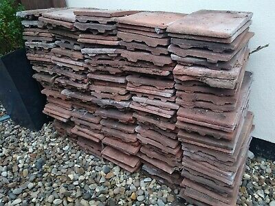 Reclaimed Peg Tiles - JOBLOT Roofing Shed Diy Wall Feature Garden Building Tile • 175£