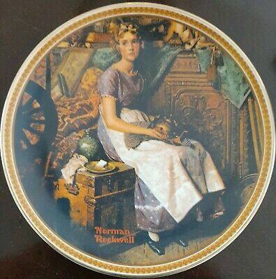 $ CDN16.37 • Buy Norman Rockwell  Dreaming In The Attic   Edwin M. Knowles Collectors China Plate