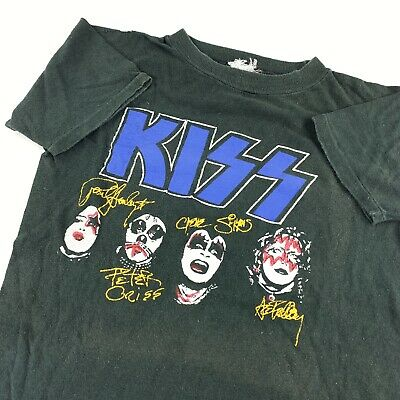$ CDN173.66 • Buy Vintage 70s Kiss T Shirt Rock And Roll Over 1976 Double Sided Single Stitch Tour
