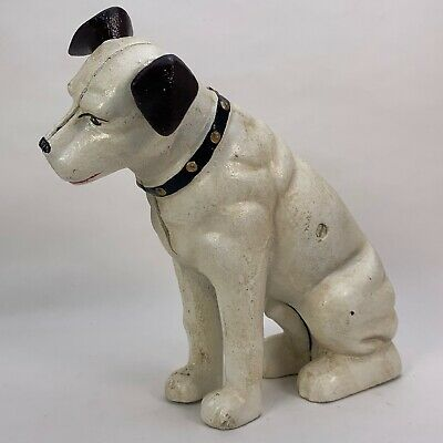 HMV's The Nipper Dog - Large - Money Box Piggy Bank Coin Jar - Cast Iron Statue • 37.99£