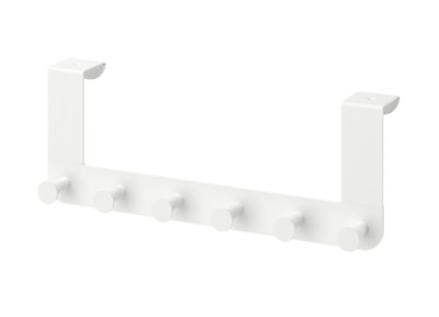 Ikea Enudden Over Door 6 Hooks Hanger Knobs White Clothes Bags Coats - Free P+P • 8.99£