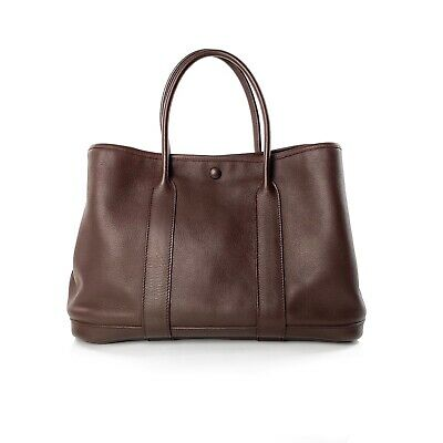 AU3300 • Buy Hermes Brown Negonda Calfskin Leather Garden Party 30 Tote Bag Handbag