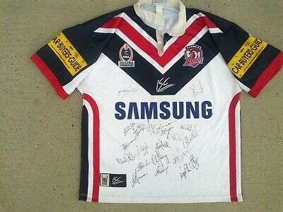 AU155.99 • Buy 2005 SIGNED Sydney ROOSTERS Fully Sponsored NRL Rugby League Jersey