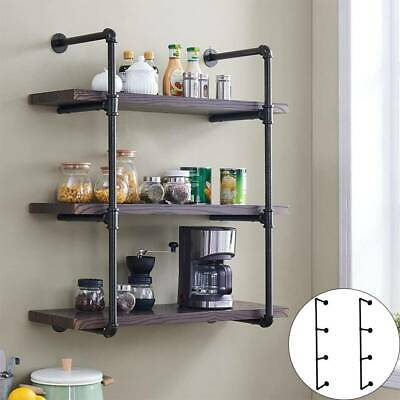 3 Tiers Industrial Iron Pipe Shelf Retro Wall Mounted Shelving Without Board • 23.99£