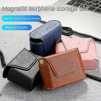 Leather Case Protective Earphone Storage Box For Sony WF-1000XM3 Headset Case MV • 4.73£
