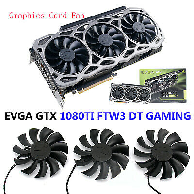 AU8.43 • Buy 1/2/3 X DC 12V For EVGA GTX 1080TI FTW3 DT GAMING Graphics Card Fan Cooling Fan