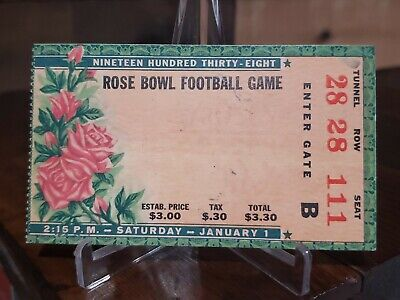 $69.99 • Buy Vintage 1938 Rose Bowl College Football Ticket Stub California Vs Alabama