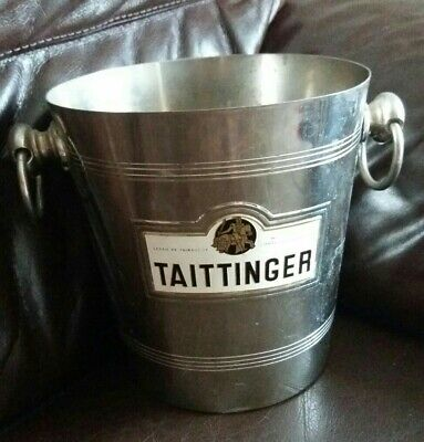 Vintage French Champagne Ice Bucket Taittinger • 54.99£