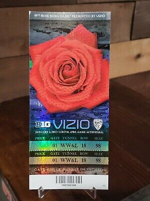 $34.99 • Buy 2013 Rose Bowl College Football Ticket Stub Wisconsin Vs Stanford