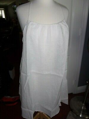 $29.99 • Buy Nwt Island Company Msrp $225 White Linen Lined Summer Lono Dress Size M