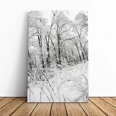 Winter Forest Woodland Landscape Canvas Print Wall Art Picture Large Home Decor • 22.95£